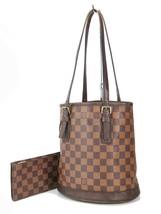 Auth LOUIS VUITTON Petit Bucket Damier Ebene Tote Shoulder Bag Purse #33201 - $429.00