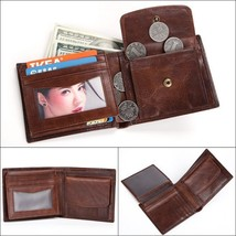 Men Real Leather Trifold Money Clip Card Holder Purse Wallet Clutch Coin Pocket - $16.95