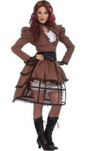 Steampunk Vicky Brown Outfit Adult Womens Halloween Costume One Size - $26.72