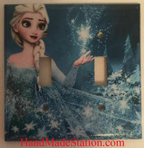 Frozen Elsa Light Switch Toggle Rocker Duplex Outlet wall Cover Plate Home decor image 5