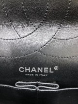 AUTHENTIC CHANEL REISSUE 227 BLACK PATENT LEATHER JUMBO CLASSIC FLAP BAG SHW image 8