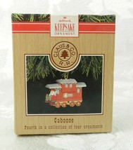 Hallmark Christmas Ornament Claus & Co. R.R. Train Caboose 4th of 4 1991 - $14.84