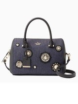 Kate Spade Cameron Street Embellished Denim Large Lane Satchel/Shoulder Bag