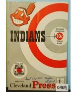 1952 Cleveland Indians Program v Boston Red Sox Unscored C429 - $48.51