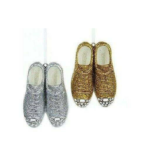 Kurt S. Adler Slip On Shoes A1189 Christmas Ornaments Set Of 2 Multicolor - $31.11