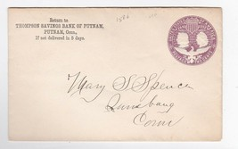 THOMPSON SAVINGS BANK OF PUTNAM UNKNOWN YEAR NO CANCEL - $1.98