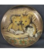 Bedtime Story Collector Plate Sue Willis Franklin Mint Teddy Bears Kitten  - $17.95
