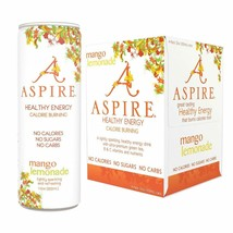Aspire Healthy Energy Drink Mango Lemonade 12 oz Cans (Pack Of 4) - $20.74