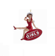 "KSA NAUGHTY LADY w/SANTA HAT ""NAUGHTY GIRLS HAVE ALL THE FUN"" CHRISTMAS ... - $12.88"