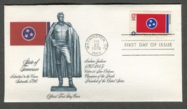 Feb 23 1976 State Flags: Tennessee #1648 FDC Fleetwood - $5.49