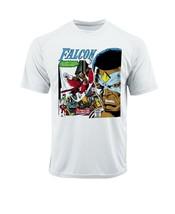 The Falcon Dri Fit graphic T-shirt microfiber UPF +50 retro superhero Sun Shirt image 2
