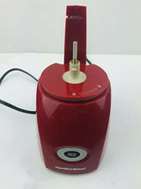 Hamilton Beach Red 3 Cup Food Chopper Model 72703 Base Motor Only - $11.29