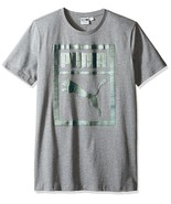 Puma Men's Holographic Logo T-Shirt , Gray Heather, Size S, MSRP $32 - $17.81