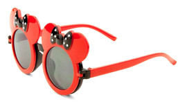 KIDS RED BLACK MOUSE EARS FLIP UP SUNGLASSES CLEAR LENS MICKEY MINNIE CU... - $10.84
