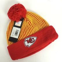 KC Chiefs Kansas Youth Boys Hat Winter Toboggan Striped NFL Football Tea... - $14.87