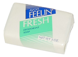 Vintage Unisex Avon Soap Feelin' Feeling Fresh Deodorant Bar Soap 3 oz - $4.50