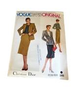 Vogue Paris Original Christian Dior Skirt Jacket Pattern 2405 Size 12 Uncut - $19.95