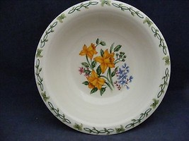 "Thomson Floral Garden 7"" Soup Bowl Yellow Daffodil Flowers - $9.99"