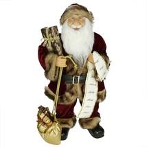 "Northlight 24"" Woodland Standing Santa Claus Christmas Figure Name List ... - $82.90"