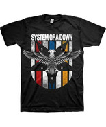 System Of A Down-Eagle Crest-Large Black T-shirt - $14.49