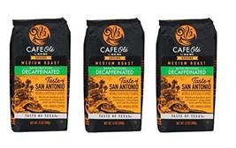 Cafe Ole Taste of Texas San Antonio Ground DECAF Coffee 12 oz. (Pack of 3), Set  - $179.97