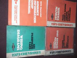 1979 Chevy Monte Carlo Camaro Nova Malibu Servicio Tienda Reparar Manual Juego W - $217.75