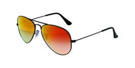 Ray Ban Sunglasses Aviator RB3025 002/4W Black w/Red Gradient Flash Mirr... - $115.95