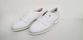 FootJoy Soft Joys II Womens Vtg Sz 7.5M White Golf Saddle Shoes Spikes Fast Ship - $16.73