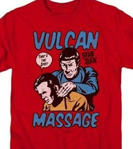 Star Trek t-shirt Kirk and Spock Vulcan Massage graphic tee CBS1738 image 2