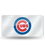 MLB Chicago Cubs Laser License Plate Tag - Silver - $29.39