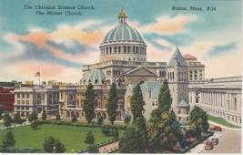 Christian Science Church Boston Massachusetts MA Postcard Linen Colourpicture - $3.53