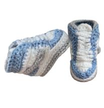 12. Air J 1  High 'Royal Blue' Baby Crochet Shoes - $24.99+