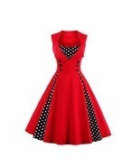 Women Retro 1950s 60s Dress Polka Dots Pinup Rockabilly Sexy Party Dresses - $45.95