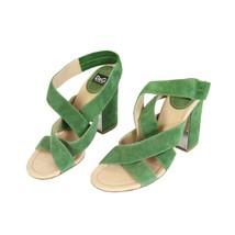 Decollete Leather Shoes Vintage amp; Heel Gabbana Dolce Green w1zAXPnq