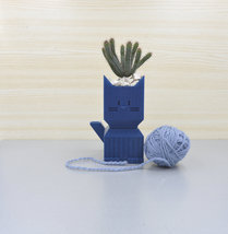 Self watering Succulent planter/Plant pot/kitty planter/3D printed cat p... - $30.00