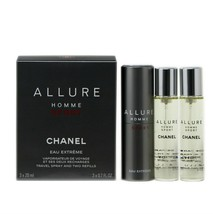 CHANEL ALLURE HOMME SPORT EAU EXTREME TRAVEL SPRAY & TWO REFILLS 3x20ML NIB - $118.31