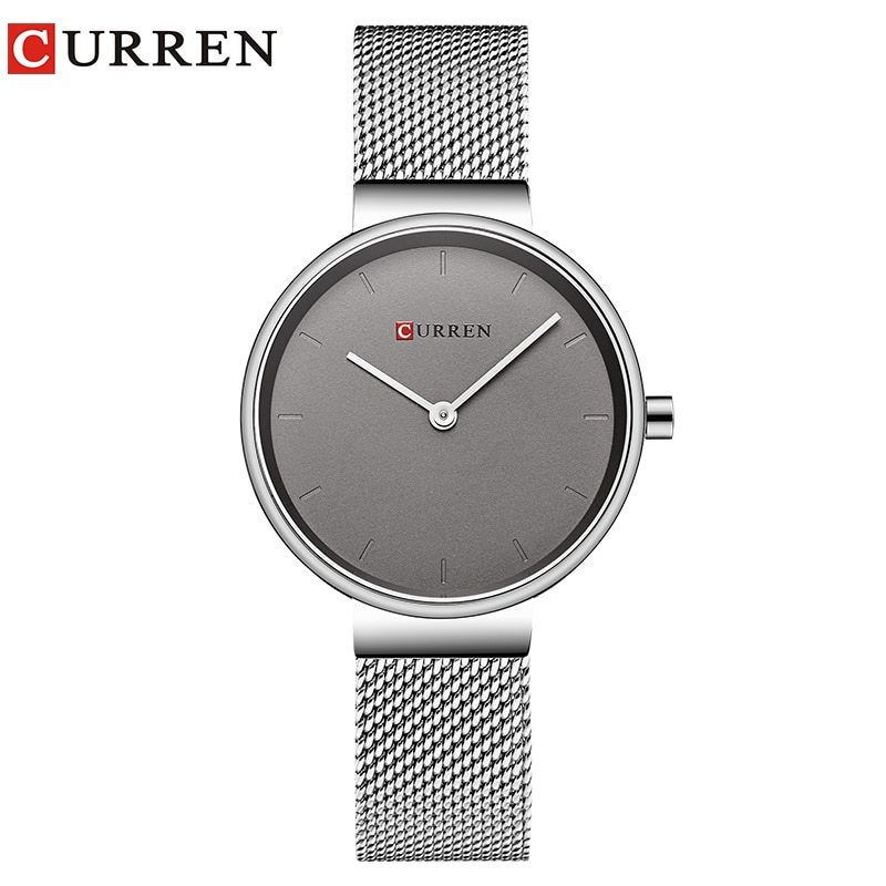 CURREN Hot Fashion Ladies Bracelet Waches Full Stainless Steel Mesh Wrist Watch  - $38.38