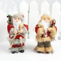 Christmas Tree Hanging Ornaments Mini Santa Claus Doll Figurine Xmas Dec... - $7.98