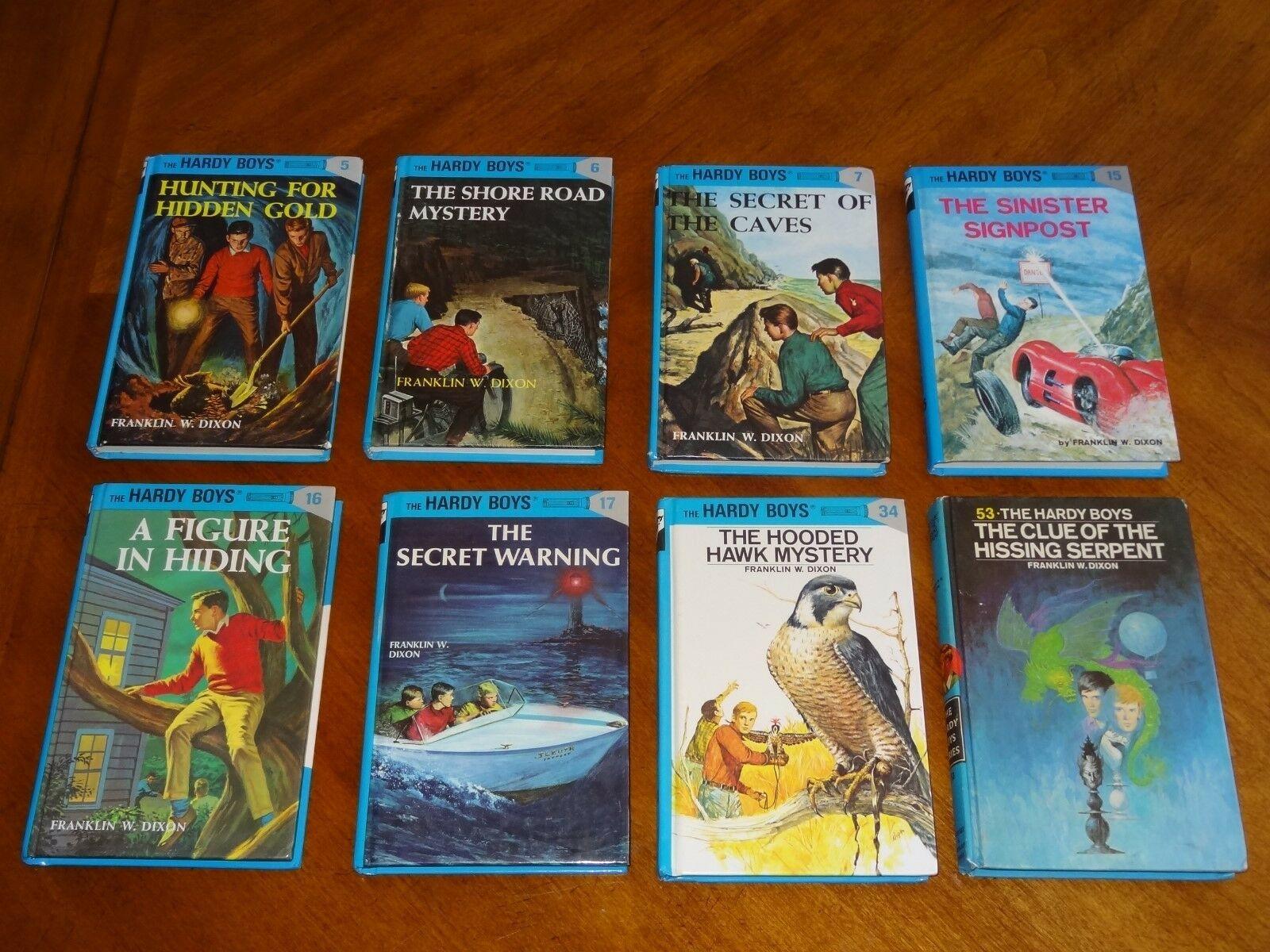 The Hardy Boys Franklin W. Dixon Book Lot of 8 Series Vol 5 6 7 15 16 17 34 53