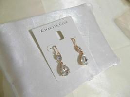 Charter Club Rose Gold-Tone Crystal Drop Earrings R555 - $10.01