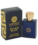 Versace Pour Homme Dylan Blue by Versace Mini EDT .17 oz for Men - $12.42