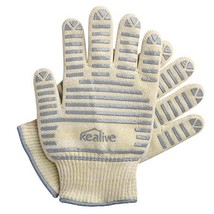 Kealive Oven Mitts, CookingGloves, Heat Resistant BBQ Gloves, Silicone a... - $17.36