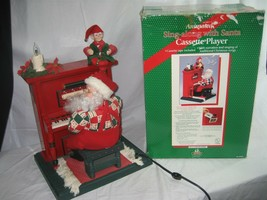 Holiday Creations Animated Sing Along w/ Santa Cassette Player & Box 1995 - $28.01