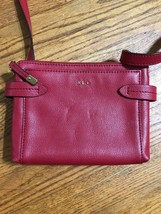 LAUREN RALPH LAUREN Red Crossbody Organizer ZIP AROUND Wallet Small Purs... - $24.18