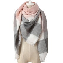 DropShipping 2018 Winter Triangle Scarf For Women Brand Designer Shawl C... - $14.20