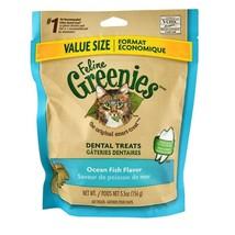 Greenies Feline - Ocean Fish Cat Treat - 5.5oz - prevent buildup plaque - $14.82