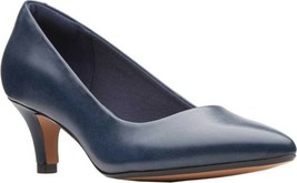 Clarks Linvale Jerica Pump (Women's) in Navy Full Grain Leather - NEW - $83.69