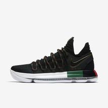 Nike Zoom Kd 10 Negro Historia Mes Blanco / Negro/Verde/Rojo Hombre Tall... - $140.28