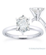 Oval Brilliant Cut Moissanite 14k White Gold 6-Prong Solitaire Engagemen... - €368,83 EUR+