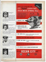 1957 Ocean City Fishing Reels Color Magazine Ad - $4.95